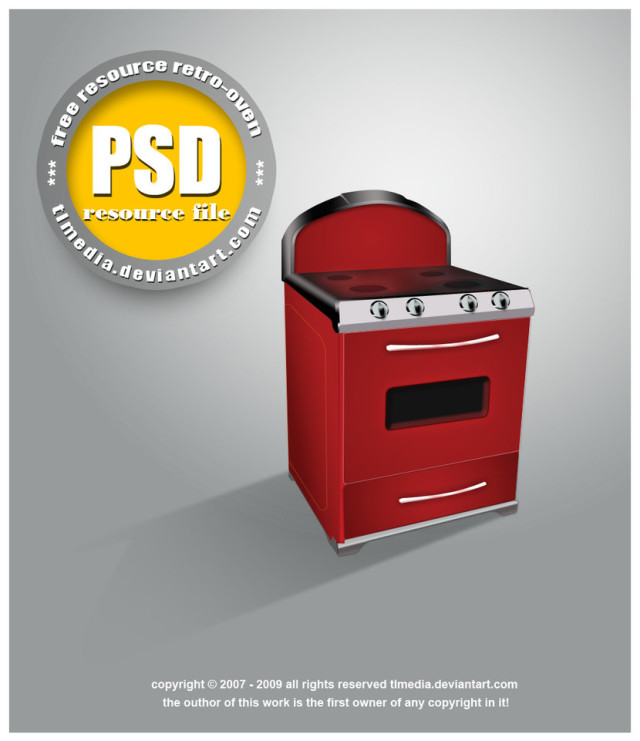 Free Oven PSD Template
