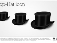 Black Top-Hat Icons Free PSD
