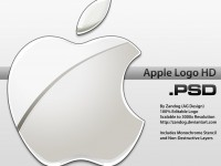 Silver Apple Logo PSD