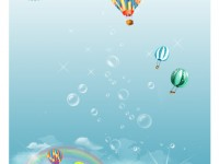 Free Beautiful Bubble Island PSD