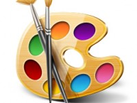 Free Color Plate and Brushes Icon PSD