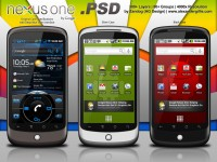 HTC Google Nexus One PSD Template