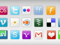 Social Network Icons Free PSD