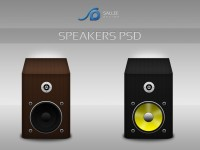 Speakers Icons Free PSD