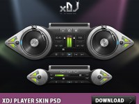 xDJ Player Free PSD