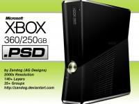 Free Xbox 360 250GB PSD Template