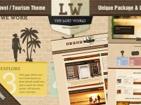 The Lost World – Travel / Resort PSD Template