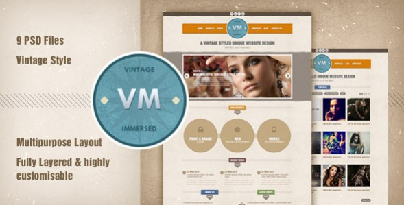 Vintage Immersed – Multi-purpose PSD Template