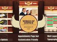 Wings of Justice – Law / Attorney PSD Template