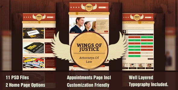 Wings of Justice PSD