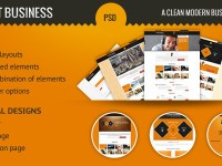 Elegant Business – Clean and Modern PSD Template