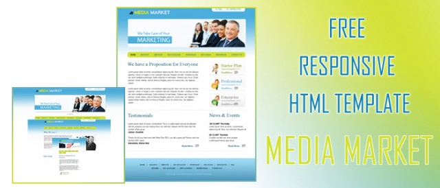 Media Market PSD, Free Marketing Web Template