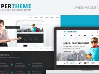 Super | An Elegant One Page PSD Theme