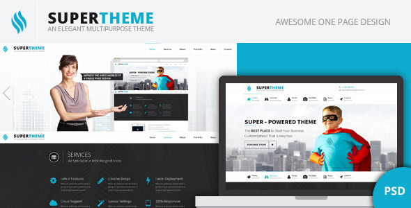 super psd template