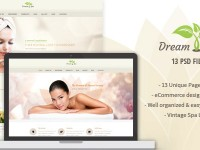 Dream Spa – Vintage Spa / Salon PSD