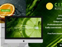 Citrus – One Page PSD Template